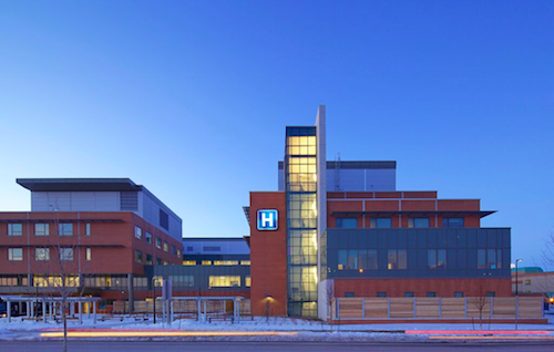 Markham-Stouffville Hospital's new wing achieved LEED Silver accreditation.