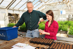 Dr. Michael Brownbridge, Vineland research director with research technician Gillian Limebeer.
