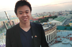 Donny Ouyang in Russia for the Young Entrepreneur's Alliance Summit.