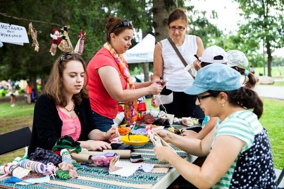 Community workshops at the Earl Bales Park Arts & Music Festival