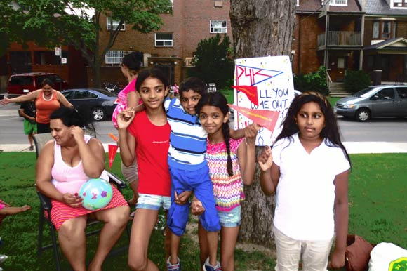 """P4K Obstacle Course"" neighbourhood game in Parkdale."