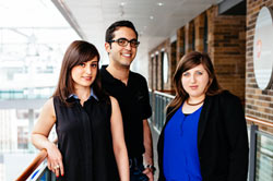 Shirin Habibi, Tariq Haddadin and Amie Sergas of the MaRS Business Acceleration Program