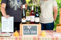 VQA wine at the Sorauren Farmer's Market.
