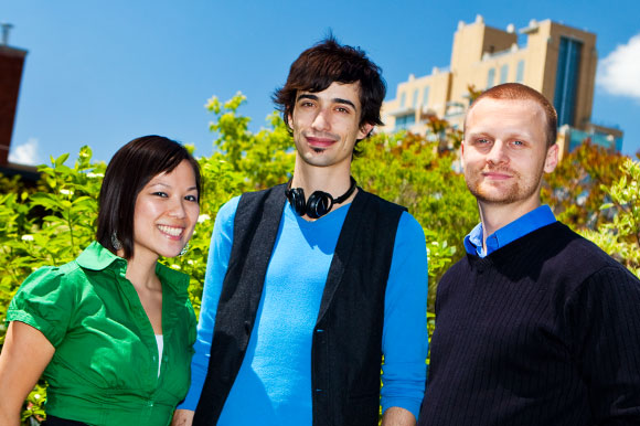 Lena Lam, Tony Hancock and Chad Hamre of Ethical Ocean