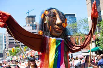 Cultures coming together for Pride Toronto.