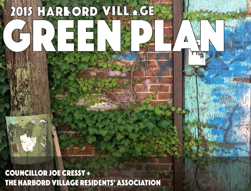 The Harbord Village Green Plan aims to replace asphalt and concrete with trees and green space