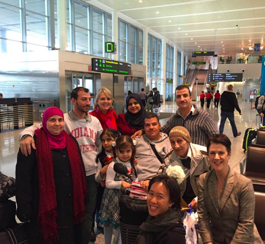 The Ripple Refugee Project meets the Abdullah Family at the airport